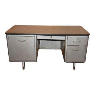 Metal Tanker Desk, 1950s