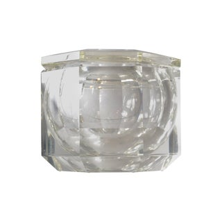 Fire Polished Lucite Ice Bucket