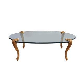 Louis XV Glass Top Coffee Table