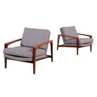 Restored Mid-Century Modern Arm Chairs - Pair