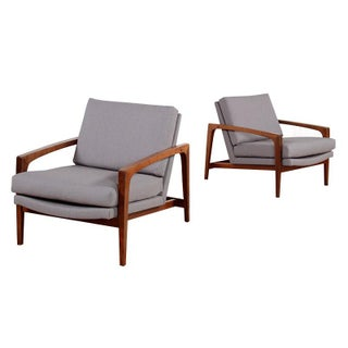 Restored Mid-Century Modern Arm Chairs - Pair
