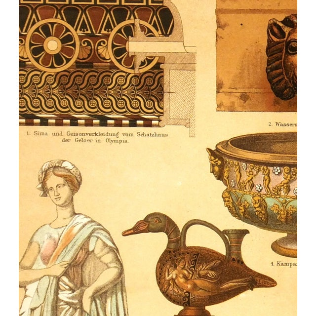 1880 Antique Decorative Ancient Terracotta Print - Image 2 of 3