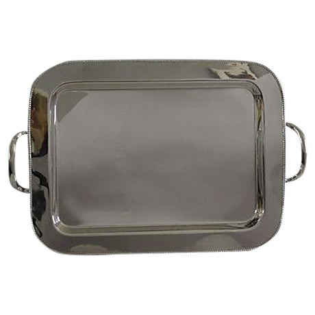 Pearled Rim Silverplate Tray - Image 1 of 5