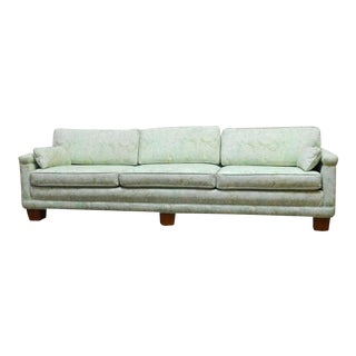 Mid-Century Modern Sofa in Fortuny Fabric