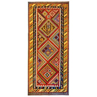 Outstanding Mid-20th Century Shiraz Kilim Runner