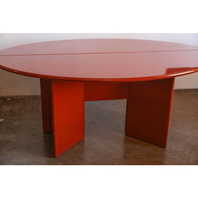 "Kazuhide Takahama Red Lacquered ""Antella"" Folding Console - Image 4 of 7"