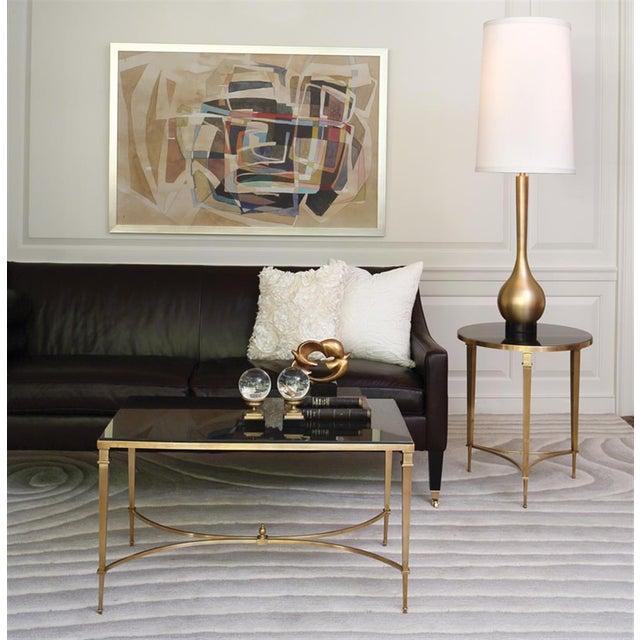 Antibes French Art Deco Regency Style Brass Black Granite