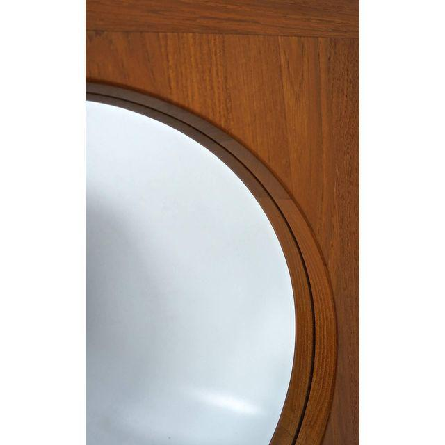 Danish Teak Table Mirror with Shelf - Image 4 of 7