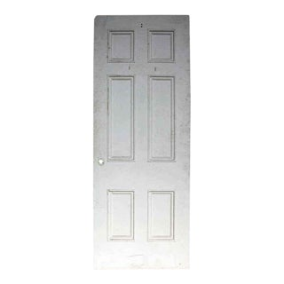 Antique White Painted Six Panel Wood Door