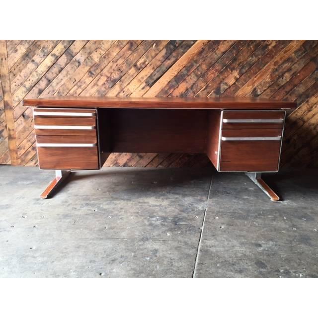 Vintage Cantilevered Executive Desk - Image 2 of 11
