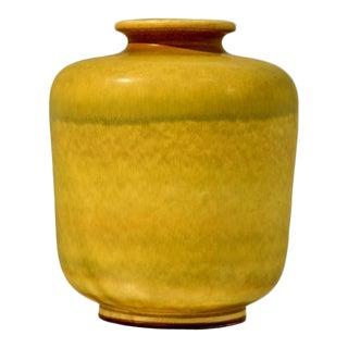 Large Yellow Stoneware Vase by Berndt Friberg for Gustavsberg