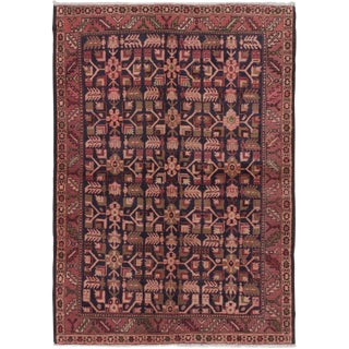 Vintage Persian Pink & Copper Rug - 3′8″ × 5′1″