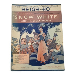 1937 Snow White Dwarfs Marching Song Sheet Music