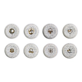 Piero Fornasetti Set of Eight Astrological Plates, Serie Zodiaci made for Perugia