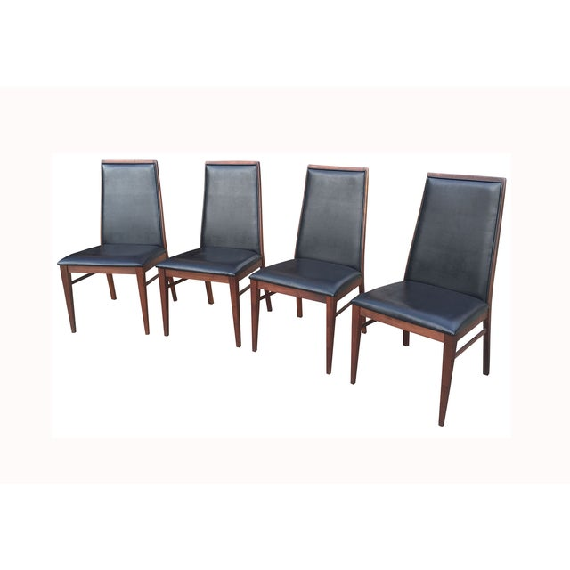 Milo Baughman Mid-Century Walnut Chairs - Set of 4 - Image 2 of 7