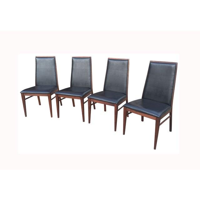 Image of Milo Baughman Mid-Century Walnut Chairs - Set of 4