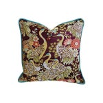 Image of Exotic Embroidered Crane Pillows - A Pair