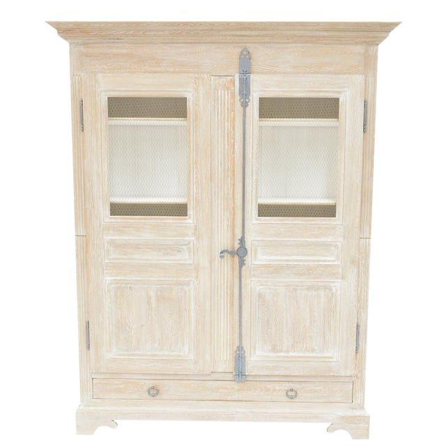 Sarreid Ltd Shabby Chic Reclaimed White Pine Armoire