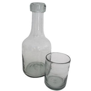 Bedside Carafe & Cup Handblown Glass