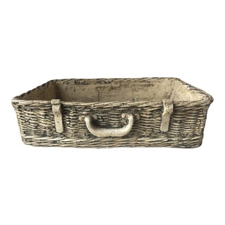 Vintage Concrete Basket Planter