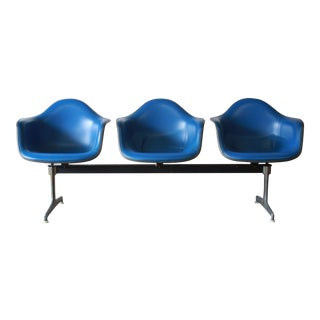 Tandem Three-Seat Shell Chairs by Charles & Ray Eames for Herman Miller
