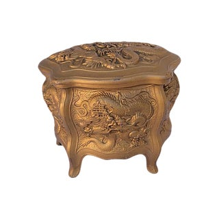 Antique Gold Dragon Chinosiere Chest
