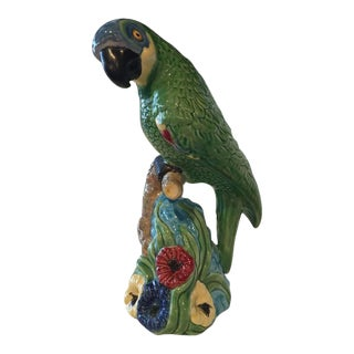 Vintage Ceramic Tropical Parrot Bird