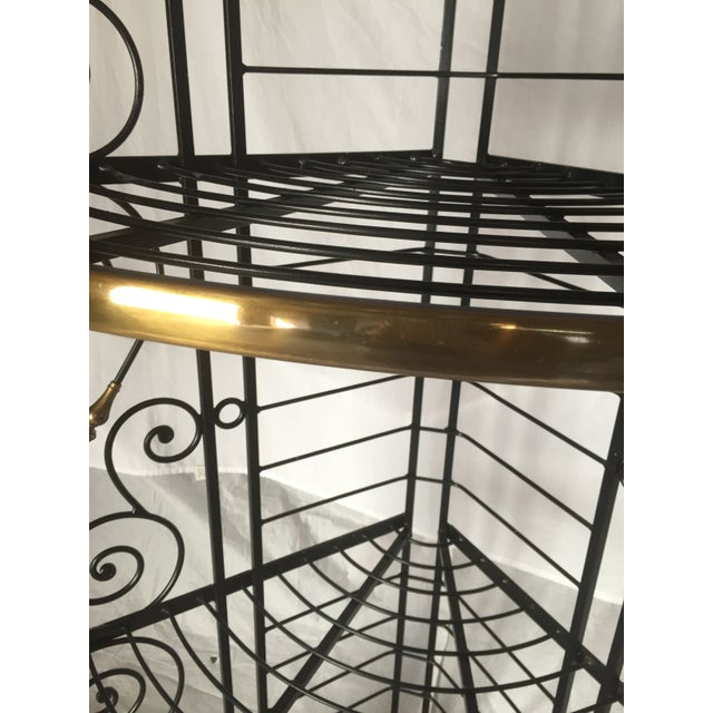 Vintage French Brass And Iron Corner Baker's Rack - Image 5 of 8