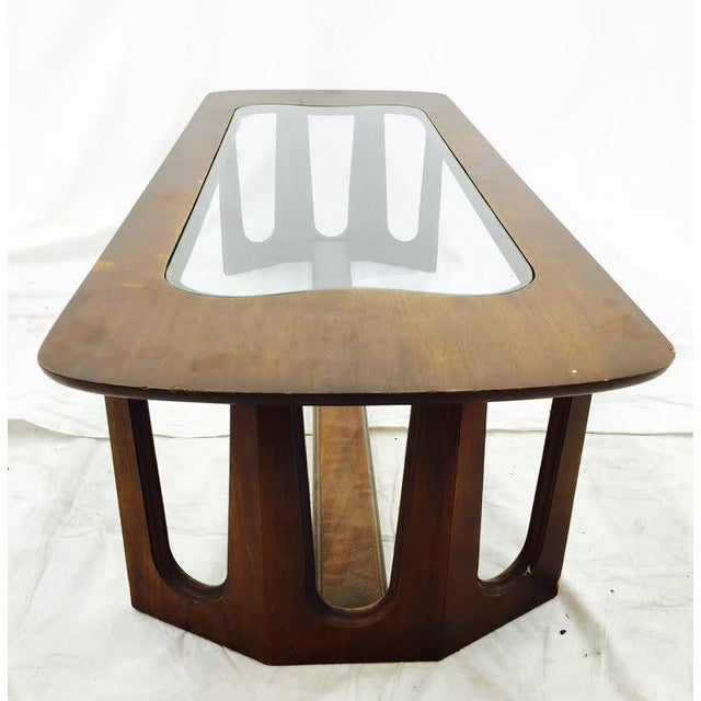 Vintage Mid-Century Modern Glass Top Coffee Table