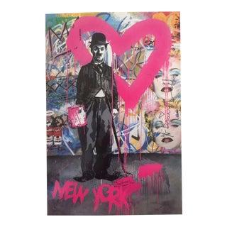 "Mr. Brainwash Original Lithograph Print Poster ""Charlie Chaplin Madonna"""