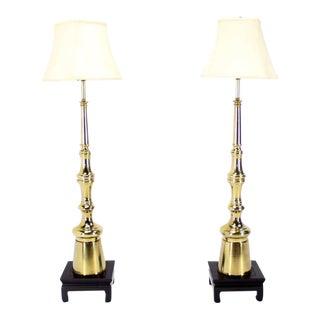 Mid-Century Modern Metal Finial-Shape Floor Lamps - A Pair