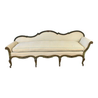 19th Century Antique Venetian Carved & Painted Couch/Sofa