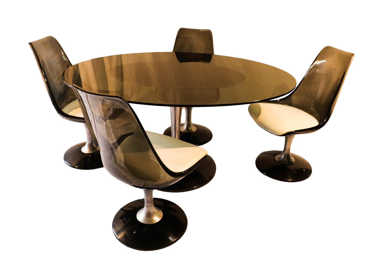 Vintage Acrylic U0026 Glass Chromcraft Dining Set