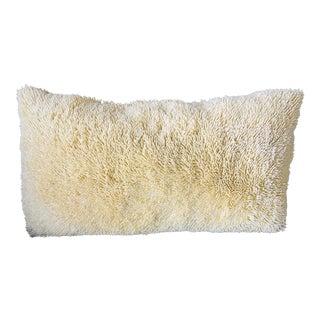26 X 14 Light Yellow / Cream Fluffy Double Sided Rectangular Pillow