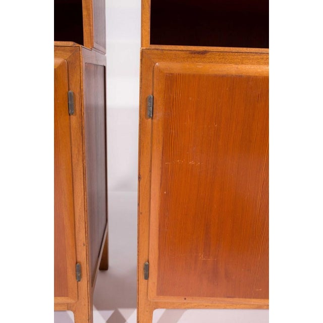 Mid-Century Swedish Bookcase Cabinets - A Pair - Image 8 of 9