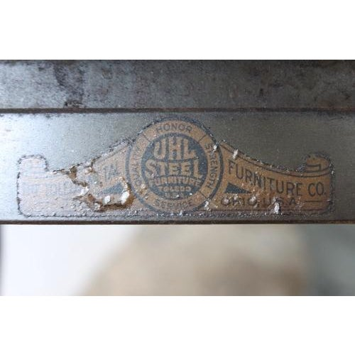 Industrial Metal Stool by Toledo - Image 6 of 6