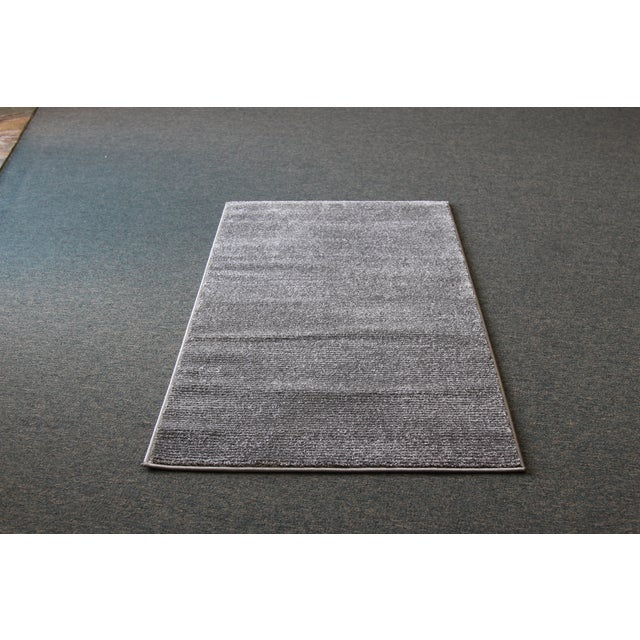 Image of Gray Stripe Rug - 3′ × 5′