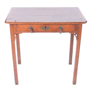 English Oak Lowboy Table
