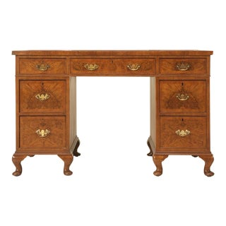 Antique English Edwardian Partner's Desk, circa 1910