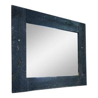 Black Painted Barn Wood Mirror