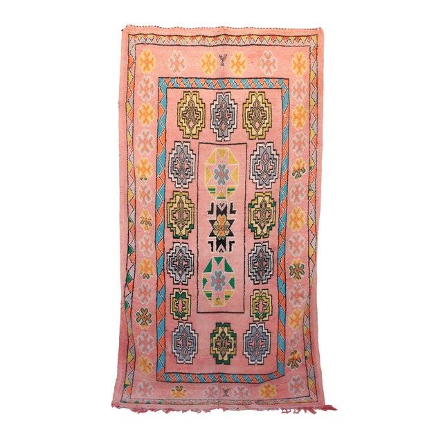 "Boujad Vintage Moroccan Rug, 6'1"" x 10'10"" - Image 1 of 4"