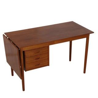Danish Modern Teak Desk with Expanding Top & Adjustable Drawers by Arne Vodder
