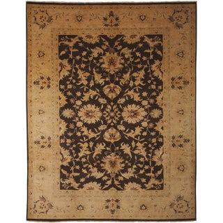 """Hand Knotted Oushak Area Rug - 8'10"""" X 11'3"""""""