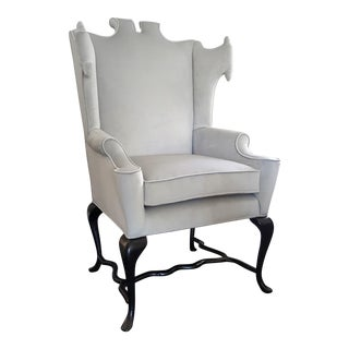 Documented Arturo Pani White Wingback Chair