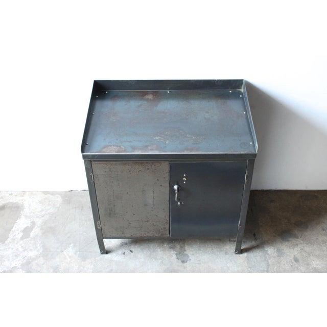 Image of Industrial Metal Cabinet 1940's