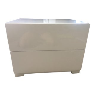 Modrest Roma White Lacquer Nightstand