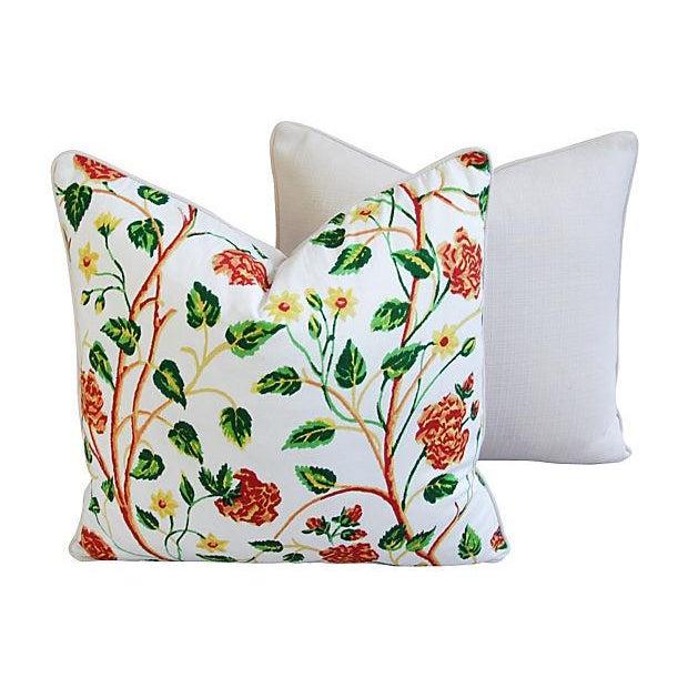 Custom Scalamandre William & Mary Pillows - Pair - Image 7 of 8
