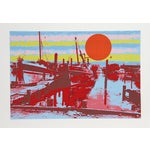 "Image of Max Epstein, ""Freeport Fishing Boats,"" Serigraph"