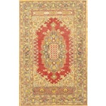 Image of Hand-Knotted Oushak Rug - 4' X 6'8""