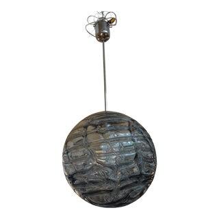 Italian Venini Style Murano Smoked Glass Sphere Pendant